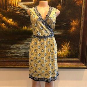 3/$25☀️ Max Studio Jersey Wrap Dress Yellow